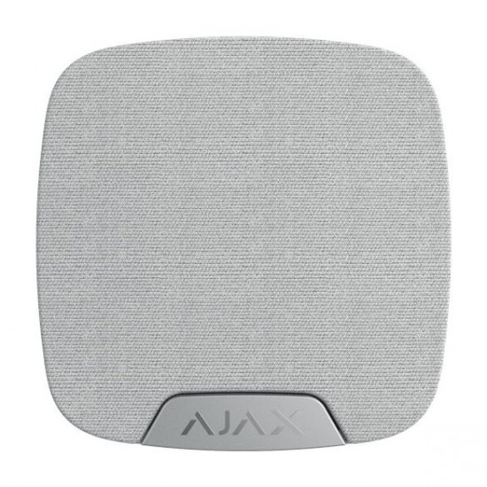 AJAX Vezetéknélküli beltéri hangjelző, állítható hangerő 85-113dB@1m. LED visszajelzés Fehér szín