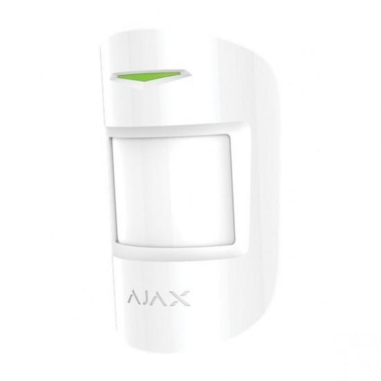 AJAX Vezetéknélküli kombinált PIR+MW mozgásérzékelő, 12m@85°, kisállatvédelem 20kg /50cm. Fehér szín