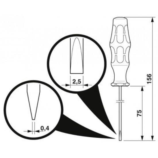 Csavarhúzók - SZF 0-0,4X2,5 - 1204504